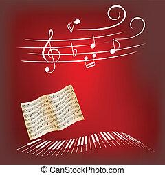 zongora, zene
