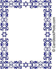 zsidó, határ, virágos