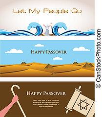 zsidó, zsidó húsvét, szalagcímek, ünnep, három