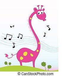 zsiráf, éneklés
