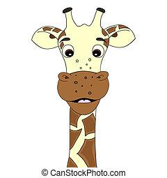 zsiráf, karikatúra